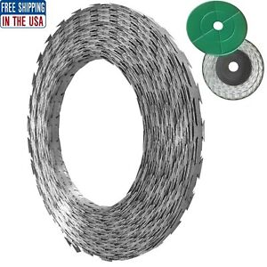 328 Ft Galvanized Steel Razor Barbed Wire Outdoor Garden Fence Safe Fencing Roll