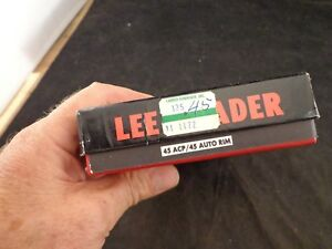 VINTAGE LEE LOADER 45acp & 45 AUTO RIM HAND RELOADING TOOL W BOX & MANUAL
