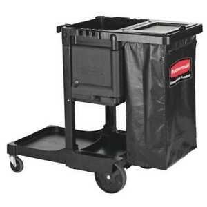 Executive Janitorial Cleaning Cart black Rubbermaid 1861430