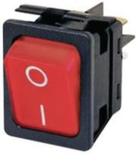 10x 13j8316 Arcolectric Switches C6053alnae Rocker Switch dpst 20a 250vac red