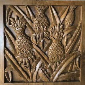 Tropical Hawaiian Teak Wood Carving