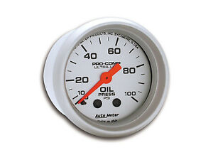 Auto Meter Ultra Lite Mechanical Oil Pressure Gauge 2 1 16 52mm 0 100 Psi