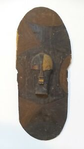 Incredible Large Antique Songye Tribe Wood Kifwebe Shield Congo Africa 30