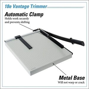 Vantage Paper Cutter Trimmer Automatic Clamp Adjustable Guide Metal Base Tool