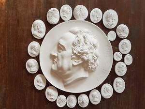 23 Grand Tour Cameos Intaglios Gems Medallions Plaster Seals European Coins New