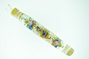 Rare Art Cut Glass Hand Painted Victorian Era Stoppered Perfume Bottle