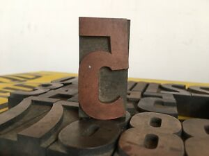 27 Pcs 65 Mms Numbers Lot Wood Letterpress Type Print Blocks Lote 30