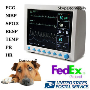 Cms8000vet Animal Icu Patient Monitor Multi parameter Vet Veterinary 12 1 Lcd