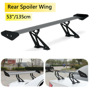 Universal 53 Hatch Aluminum Adjustable Gt style Rear Car Trunk Spoiler Wing