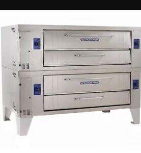 Pizza Oven Bakers Pride Brick Stone Y600 Y602 Y 602 Gas Double Stacked Ovens New