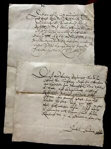 Lot Of Two Authentic Letters 1624