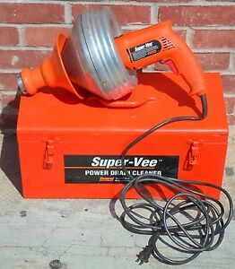 General Pipe Cleaners Super vee Power Drain Cleaner model 6355 gws no Ship