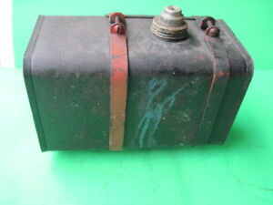 Vintage Small Engine Metal Gas Tank W Mounting Brackets 10 3 4 6 1 4 5 1 2