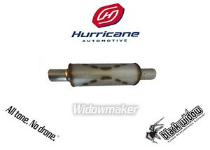 Black Widow Widowmaker Bw0013 2 Round Stainless Performance Muffler 2 5 In out