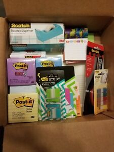 3m Goodie Box Post its Folders Tape Bags Flags Etc Office Supplies