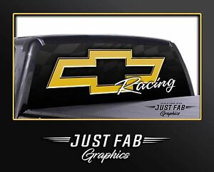 Chevrolet Chevy Racing Rear Window Perf Graphic Decal Tint Truck Suv