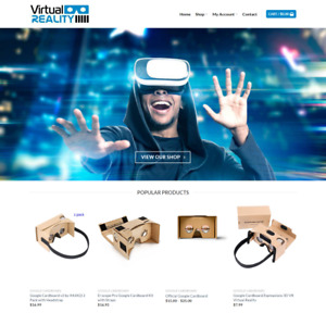 Virtual Reality Website Business Earn 449 A Sale Free Domain hosting traffic