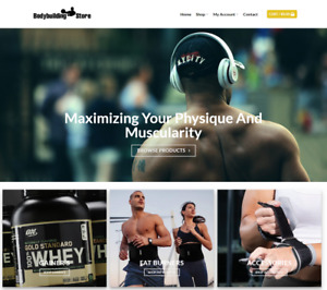 Body Building Website Business Earn 154 A Sale Free Domain hosting traffic