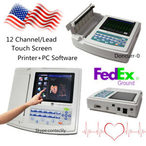Contec Touch Digital 12 Channel lead Ekg pc Sync Software Electrocardiograp Usa