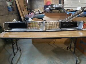 Dodge Charger R t 1969 Original Front Grille Grill Hidden Headlight 69 Oem Super