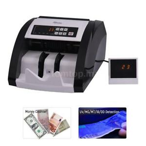 Cash Currency Money Counter Automatic Machine Counterfeit Bill Detector Uv P8c7