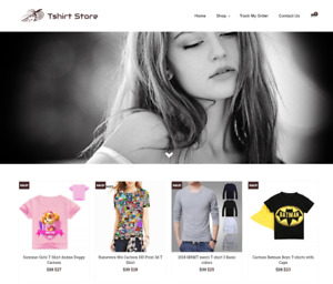Tshirt Store Turnkey Website Business For Sale Profitable Dropshipping