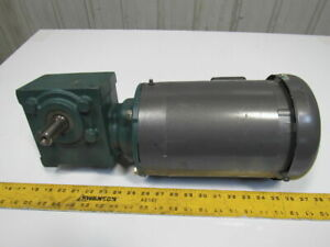 Dodge 17q10r14 10 1 Ratio 1hp 175rpm 208 230 460v Rh Output Electric Gear Motor