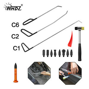 Whdz Paintless Dent Repair Removal Auto Body Puller Rods Pen Heads Tools Kit