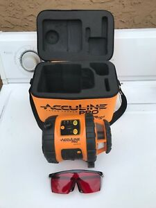 Johnson Acculine Pro 40 6515 Self leveling Rotary Laser Level Padded Case More