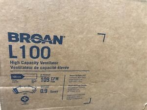 Broan L100 High Capacity Polymeric Ventilation Fan 109 Cfm