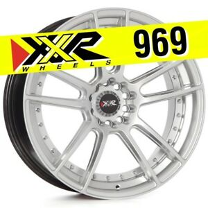 Xxr 969 19x8 75 5 114 3 5 120 15 Hyper Silver Wheels set Of 4