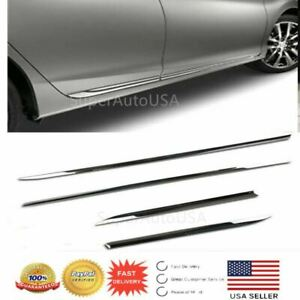 For Honda Accord 13 17 Chrome Side Body Door Moulding Lid Cover Trim Plate Kit