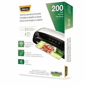 Fellowes 5mil Letter Size Thermal Laminating Pouches 200pk