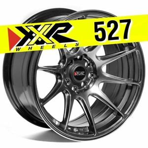 Xxr 527 16x8 25 4x100 4x114 3 0 Chromium Black Wheels set Of 4