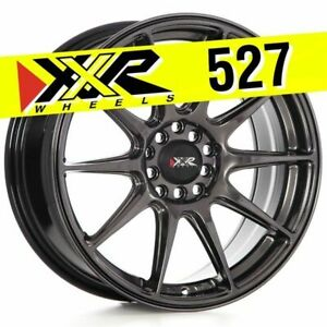 Xxr 527 17x7 5 4x98 4x108 40 Chromium Black Wheels Set Of 4