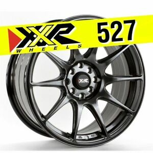 Xxr 527 17x8 25 5x100 5x114 3 25 Chromium Black Wheels Set Of 4