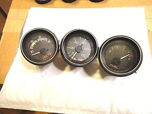 Vintage Nos Stewart Warner Gauges Fuel Volt Oil Sb Bb Buggy Rat Hot Semi