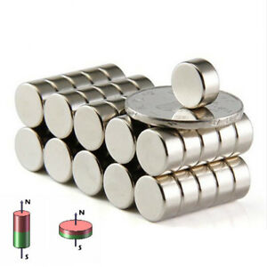 1 100pcs Super Strong Magnet Small Magnet Cylinder Ring N52 Neodymium Magnet