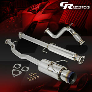 4 5 Muffler Burnt Tip Catback Exhaust System For 94 97 Honda Accord F22 2 2l I4
