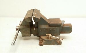 5 1 2 Craftsman Swivel Vise Used 51871 U s a Opens To 6 W Pipe Jaws