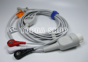 1pc New Philips hp One piece 8pin 3lead Defibrillator Cable For M1723b M1722b