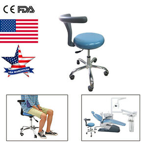 Adjustable Mobile Dental Doctor Nurse Assistant Stool Chair Pu Leather
