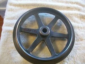 Heavy Steel Double Pulley From Vintage 10 M Ward Logan Metal Lathe 04tlc 700a