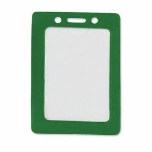 New Green Credit Card Size Vertical Colored Frame Badge Holders 100pk