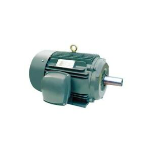 Electric Motor 15hp 254t 1800 Tefc 3 Phase 208 230 460 Volt Cast Iron Brand New