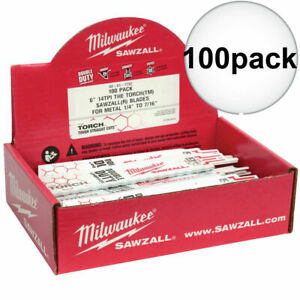 Milwaukee 48 01 7782 Sawzall Torch Metal Demolition Blades 100 Count