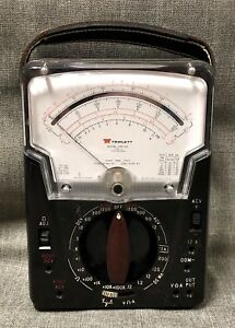 Vintage Triplett Model 630 na Type 3 Volt Ohm Meter Multimeter No Leads