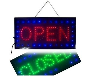 Open Closed Led Sign Ultra Bright 2 In 1 Business Signs For Drink Food Cafe Bar