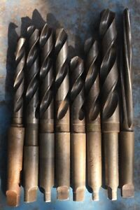 7 pc Morse Taper 3 Mt Drill Bit Lot Metal Lathe Southbend Jet Grizzly Clausing