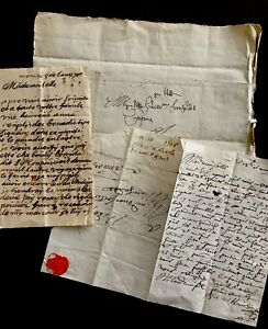 1700s Lot Of Autographed Letters